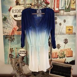 Young, Fabulous & Broke blue ombre minidress/tunic
